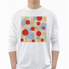 Contrast Analogous Colour Circle Red Green Orange White Long Sleeve T Shirts by Alisyart