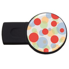 Contrast Analogous Colour Circle Red Green Orange Usb Flash Drive Round (4 Gb) by Alisyart