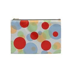 Contrast Analogous Colour Circle Red Green Orange Cosmetic Bag (medium)  by Alisyart