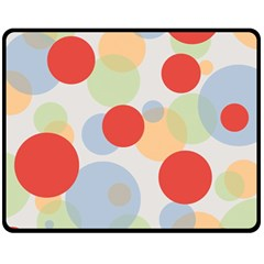 Contrast Analogous Colour Circle Red Green Orange Fleece Blanket (medium)  by Alisyart