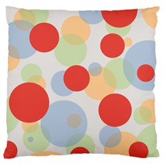 Contrast Analogous Colour Circle Red Green Orange Large Cushion Case (two Sides) by Alisyart
