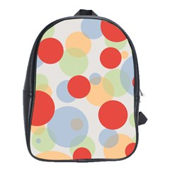 Contrast Analogous Colour Circle Red Green Orange School Bags (xl)  by Alisyart