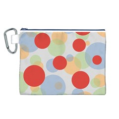 Contrast Analogous Colour Circle Red Green Orange Canvas Cosmetic Bag (l) by Alisyart