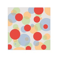 Contrast Analogous Colour Circle Red Green Orange Small Satin Scarf (square) by Alisyart
