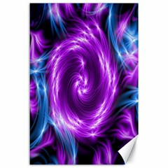 Colors Light Blue Purple Hole Space Galaxy Canvas 24  X 36  by Alisyart