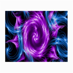 Colors Light Blue Purple Hole Space Galaxy Small Glasses Cloth (2 Side) by Alisyart