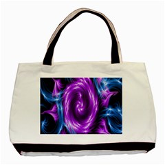 Colors Light Blue Purple Hole Space Galaxy Basic Tote Bag (two Sides) by Alisyart