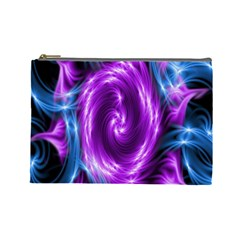 Colors Light Blue Purple Hole Space Galaxy Cosmetic Bag (large)  by Alisyart