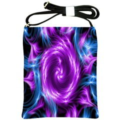 Colors Light Blue Purple Hole Space Galaxy Shoulder Sling Bags by Alisyart