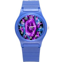 Colors Light Blue Purple Hole Space Galaxy Round Plastic Sport Watch (s) by Alisyart