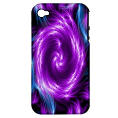 Colors Light Blue Purple Hole Space Galaxy Apple Iphone 4/4s Hardshell Case (pc+silicone) by Alisyart