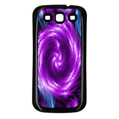 Colors Light Blue Purple Hole Space Galaxy Samsung Galaxy S3 Back Case (black) by Alisyart