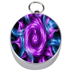 Colors Light Blue Purple Hole Space Galaxy Silver Compasses by Alisyart
