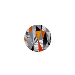 Contrast Hero Triangle Plaid Circle Wave Chevron Orange White Black Line 1  Mini Buttons by Alisyart