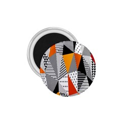 Contrast Hero Triangle Plaid Circle Wave Chevron Orange White Black Line 1 75  Magnets by Alisyart