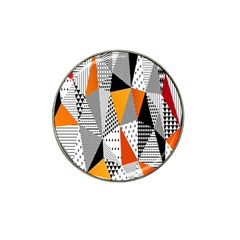 Contrast Hero Triangle Plaid Circle Wave Chevron Orange White Black Line Hat Clip Ball Marker (4 Pack) by Alisyart