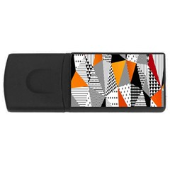 Contrast Hero Triangle Plaid Circle Wave Chevron Orange White Black Line Usb Flash Drive Rectangular (4 Gb) by Alisyart