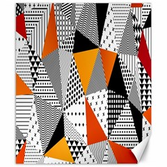 Contrast Hero Triangle Plaid Circle Wave Chevron Orange White Black Line Canvas 8  X 10  by Alisyart