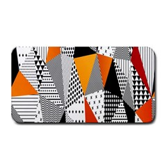 Contrast Hero Triangle Plaid Circle Wave Chevron Orange White Black Line Medium Bar Mats by Alisyart