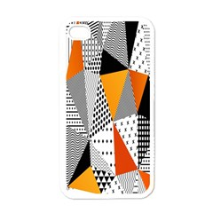 Contrast Hero Triangle Plaid Circle Wave Chevron Orange White Black Line Apple Iphone 4 Case (white)