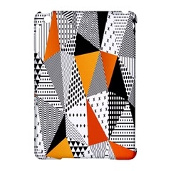 Contrast Hero Triangle Plaid Circle Wave Chevron Orange White Black Line Apple Ipad Mini Hardshell Case (compatible With Smart Cover) by Alisyart