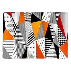 Contrast Hero Triangle Plaid Circle Wave Chevron Orange White Black Line Samsung Galaxy Tab 10 1  P7500 Flip Case by Alisyart