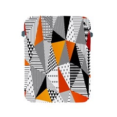 Contrast Hero Triangle Plaid Circle Wave Chevron Orange White Black Line Apple Ipad 2/3/4 Protective Soft Cases by Alisyart