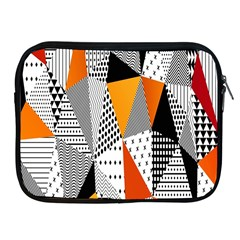 Contrast Hero Triangle Plaid Circle Wave Chevron Orange White Black Line Apple Ipad 2/3/4 Zipper Cases by Alisyart