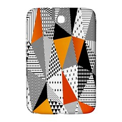 Contrast Hero Triangle Plaid Circle Wave Chevron Orange White Black Line Samsung Galaxy Note 8 0 N5100 Hardshell Case  by Alisyart