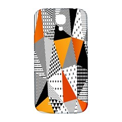 Contrast Hero Triangle Plaid Circle Wave Chevron Orange White Black Line Samsung Galaxy S4 I9500/i9505  Hardshell Back Case by Alisyart