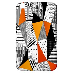 Contrast Hero Triangle Plaid Circle Wave Chevron Orange White Black Line Samsung Galaxy Tab 3 (8 ) T3100 Hardshell Case  by Alisyart