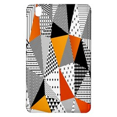 Contrast Hero Triangle Plaid Circle Wave Chevron Orange White Black Line Samsung Galaxy Tab Pro 8 4 Hardshell Case by Alisyart