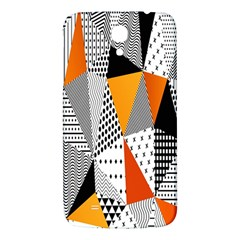 Contrast Hero Triangle Plaid Circle Wave Chevron Orange White Black Line Samsung Galaxy Mega I9200 Hardshell Back Case