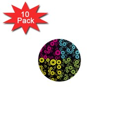 Circle Ring Color Purple Pink Yellow Blue 1  Mini Magnet (10 Pack)  by Alisyart