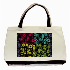 Circle Ring Color Purple Pink Yellow Blue Basic Tote Bag (two Sides) by Alisyart