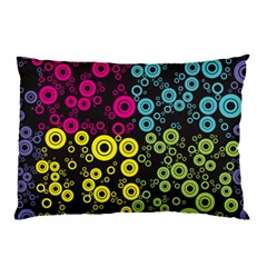 Circle Ring Color Purple Pink Yellow Blue Pillow Case by Alisyart