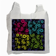 Circle Ring Color Purple Pink Yellow Blue Recycle Bag (one Side) by Alisyart