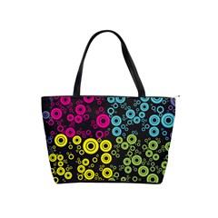 Circle Ring Color Purple Pink Yellow Blue Shoulder Handbags by Alisyart