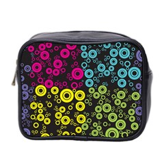 Circle Ring Color Purple Pink Yellow Blue Mini Toiletries Bag 2 Side