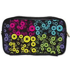 Circle Ring Color Purple Pink Yellow Blue Toiletries Bags by Alisyart