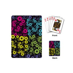 Circle Ring Color Purple Pink Yellow Blue Playing Cards (mini)  by Alisyart