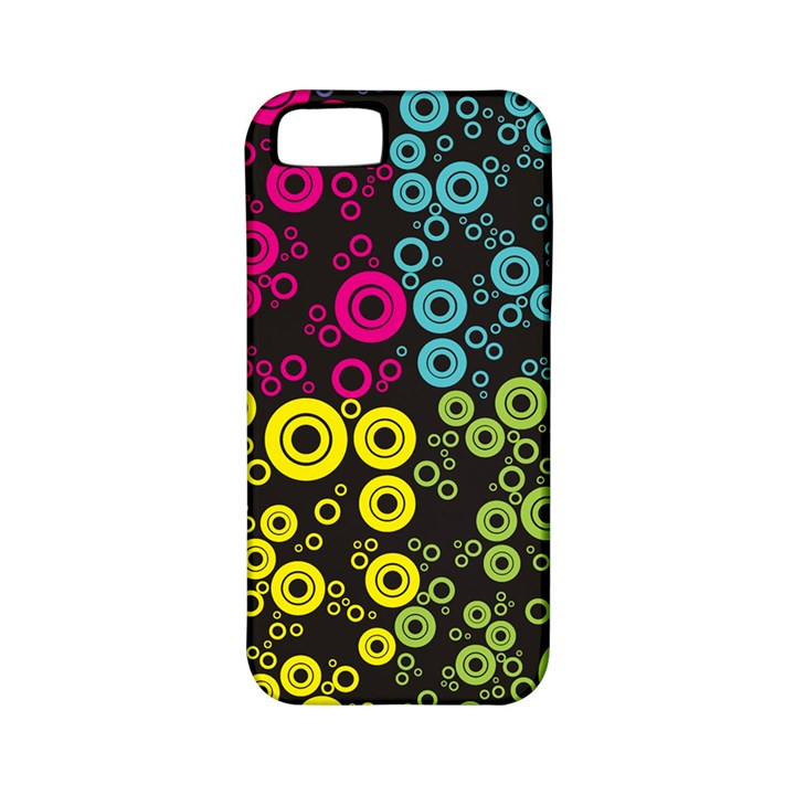 Circle Ring Color Purple Pink Yellow Blue Apple iPhone 5 Classic Hardshell Case (PC+Silicone)