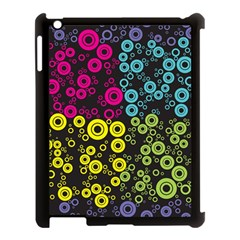 Circle Ring Color Purple Pink Yellow Blue Apple Ipad 3/4 Case (black) by Alisyart