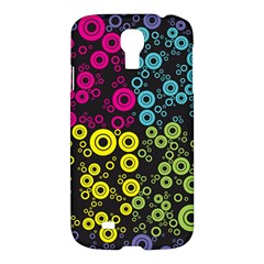 Circle Ring Color Purple Pink Yellow Blue Samsung Galaxy S4 I9500/i9505 Hardshell Case by Alisyart
