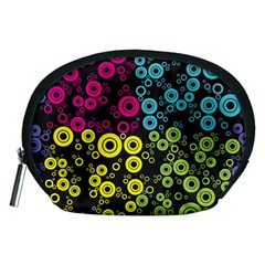 Circle Ring Color Purple Pink Yellow Blue Accessory Pouches (medium)  by Alisyart