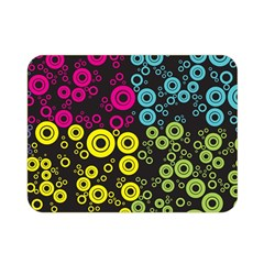 Circle Ring Color Purple Pink Yellow Blue Double Sided Flano Blanket (mini)  by Alisyart