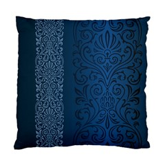 Fabric Blue Batik Standard Cushion Case (two Sides) by Alisyart