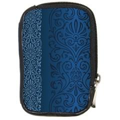 Fabric Blue Batik Compact Camera Cases by Alisyart