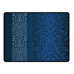 Fabric Blue Batik Fleece Blanket (small) by Alisyart