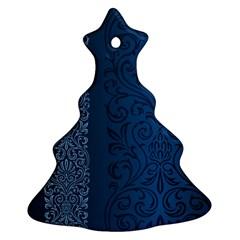 Fabric Blue Batik Ornament (christmas Tree)  by Alisyart